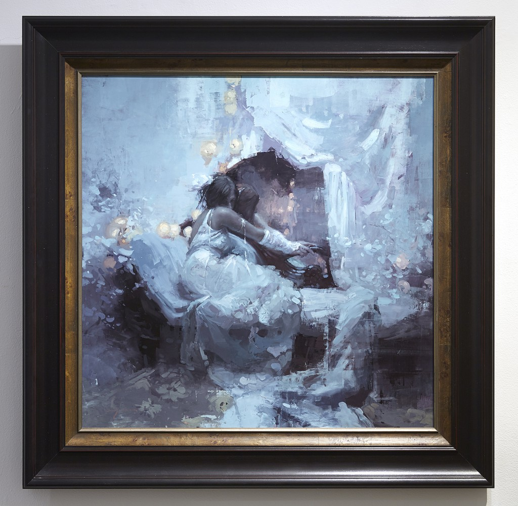Jeremy  Mann -  <strong>Lex Julia</strong> (2015<strong style = 'color:#635a27'></strong>)<bR /> oil on panel,   36 x 36 inches  (91.44 x 91.44 cm)