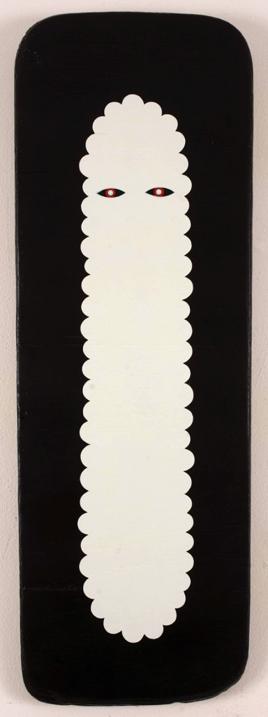 Jim  Houser -  <strong>GHST</strong> (2011<strong style = 'color:#635a27'></strong>)<bR /> acrylic on wood panel,   24 x 8 inches  (60.96 x 20.32 cm)