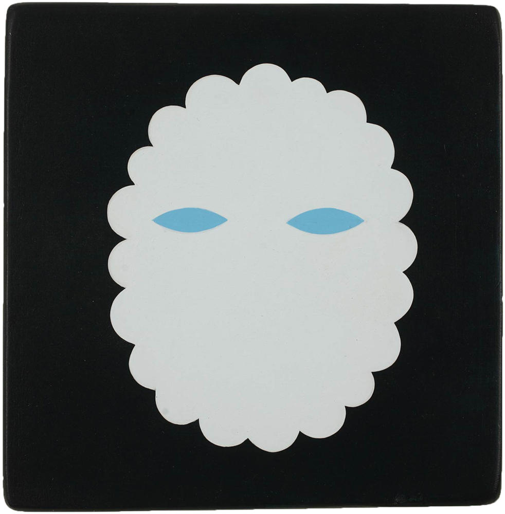 Jim  Houser -  <strong>Spectre</strong> (2011<strong style = 'color:#635a27'></strong>)<bR /> acrylic on wood panel,   5.5 x 5.5 inches  (13.97 x 13.97 cm)