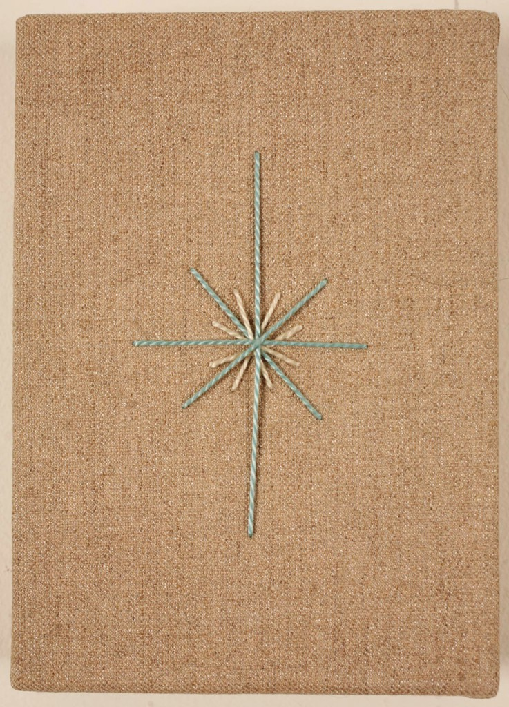 Jim  Houser -  <strong>Wishing Star</strong> (2009<strong style = 'color:#635a27'></strong>)<bR /> thread on linen,   7 x 5 inches  (17.78 x 12.7 cm)