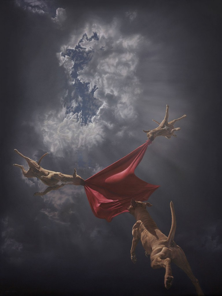 Joel Rea -  <strong>Return to Genesis</strong> (2015<strong style = 'color:#635a27'></strong>)<bR /> oil on canvas, 47.24 x 35.43 inches (120 x 90 cm)