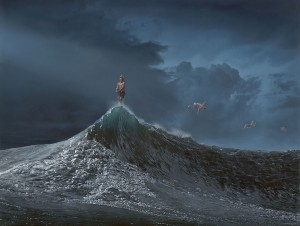 Joel Rea -  <strong>The Precision of Luck</strong> (2015<strong style = 'color:#635a27'></strong>)<bR />  oil on canvas 36.22 x 48.03 inches (92 x 122 cm)