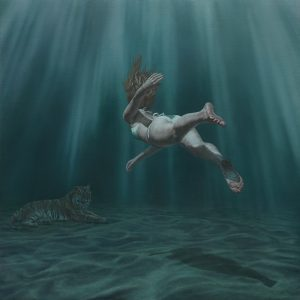 Joel  Rea -  <strong>Depths of a Memory</strong> (2013<strong style = 'color:#635a27'></strong>)<bR /> oil on canvas,   34.49 x 34.49 inches  (80 x 80 cm)