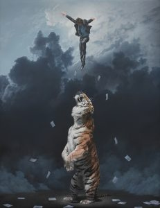 Joel  Rea -  <strong>Elevation</strong> (2013<strong style = 'color:#635a27'></strong>)<bR /><div>oil on canvas</div> <div>  35.83 x 27.56 inches  (91 x 70 cm)