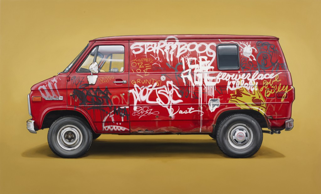 Kevin  Cyr -  <strong>Fillmore</strong> (2012<strong style = 'color:#635a27'></strong>)<bR /> oil on panel,   36 x 60 inches  (91.44 x 152.4 cm)