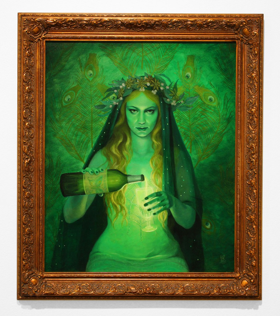 Laurie Lee  Brom -  <strong>Lair of the Absinthe Fairy</strong> (2015<strong style = 'color:#635a27'></strong>)<bR /> oil on board,   20 x 24 inches  (50.8 x 60.96 cm)