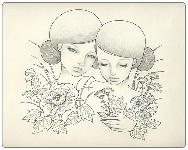 Audrey  Kawasaki -  <strong>Lacey White</strong> (2009<strong style = 'color:#635a27'></strong>)<bR /> graphite on laser-cut paper,   14.25 x 14.25 inches (36.2 x 36.2 cm)  19 x 19 inches, framed