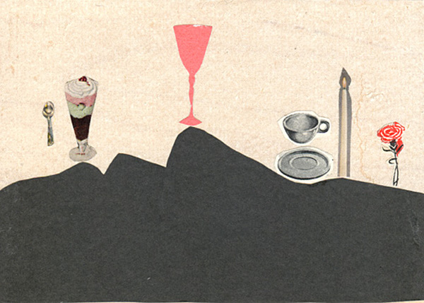 The Panorama Project  &nbsp -  <strong>Jodie Levine,</strong> (2008<strong style = 'color:#635a27'></strong>)<bR /> Collage on board,   5 x 7 inches