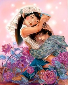 """Xiaoqing  Ding -  <strong>Little Drop of Poison</strong> (2007<strong style = 'color:#635a27'></strong>)<bR /> Pastel on Paper,  <p class=""""MsoNormal""""><span style=""""font-family: Helvetica;"""">Image size: 40 x 32 inches,   </span>,  <p class=""""MsoNormal""""><span style=""""font-family: Helvetica;"""">Framed size: 41 x 33 inches,   </span>"""
