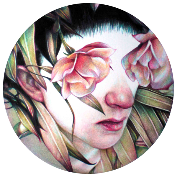 Marco  Mazzoni -  <strong>GEA 1</strong> (2010<strong style = 'color:#635a27'></strong>)<bR /> colored pencil on paper,   13.25 x 10.875 inches  (33.65 x 27.38 cm)