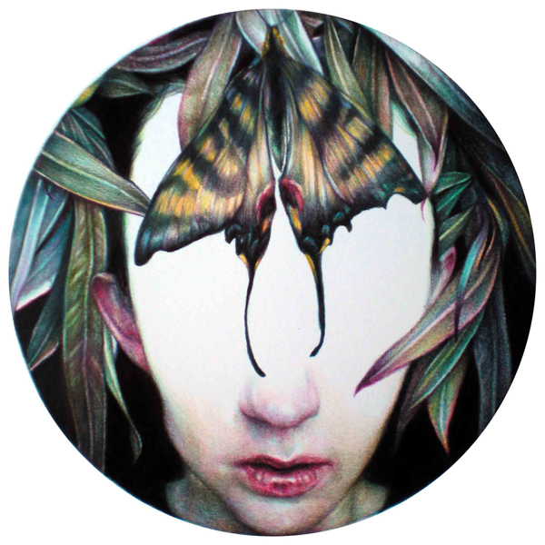 Marco  Mazzoni -  <strong>GEA 2</strong> (2010<strong style = 'color:#635a27'></strong>)<bR /> colored pencil on paper,   13.25 x 10.875 inches  (33.65 x 27.38 cm)