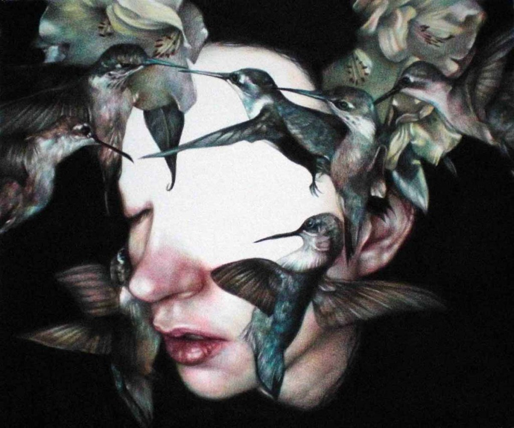 Marco  Mazzoni -  <strong>Koolibri</strong> (2011<strong style = 'color:#635a27'></strong>)<bR /> colored pencil on paper,   9.875 x 11.75 inches (25 x 30 cm)  framed dimensions TBD