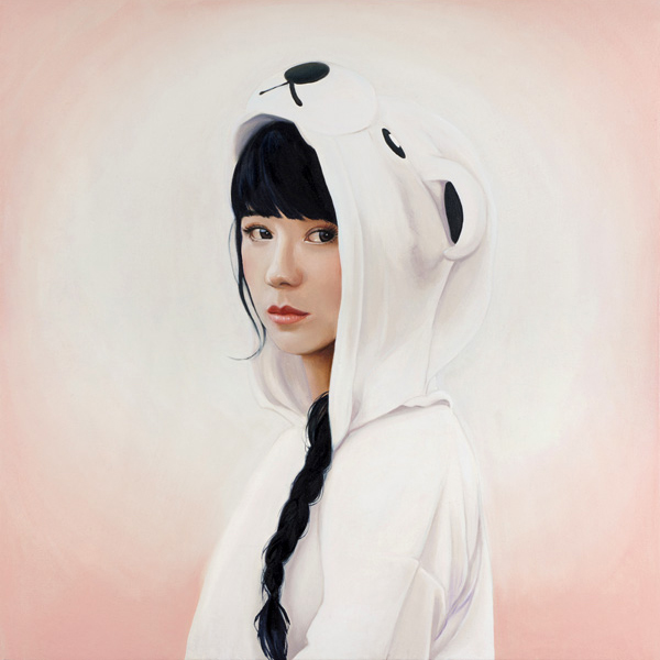 Melissa  Haslam -  <strong>Polar Bear</strong> (2011<strong style = 'color:#635a27'></strong>)<bR /> oil on canvas,   24 x 24 inches   (60.96 x 60.96 cm)