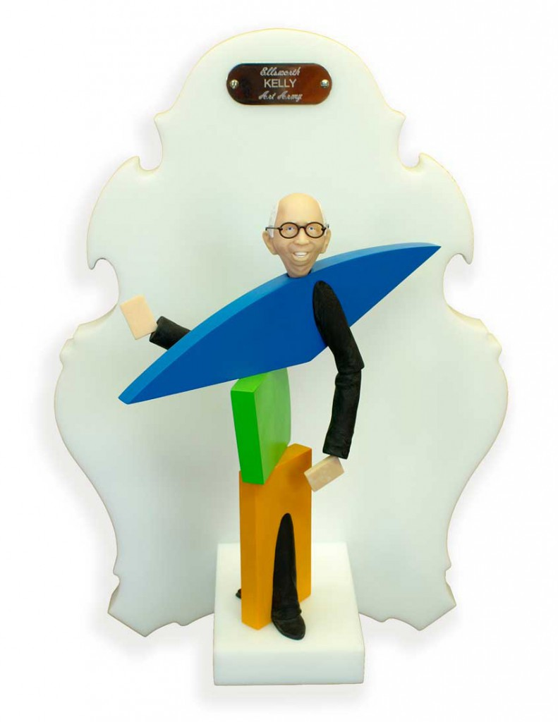 Michael  Leavitt -  <strong>Ellsworth Kelly</strong> (2011<strong style = 'color:#635a27'></strong>)<bR /> polymer clay and mixed media,   11 x 6 x 5 inches, unframed  18 x 12 x 6 inches, framed