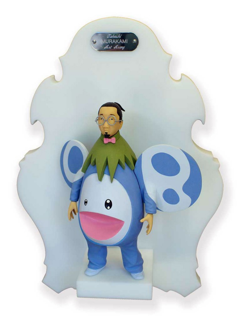 Michael  Leavitt -  <strong>Takashi Murakami</strong> (2011<strong style = 'color:#635a27'></strong>)<bR /> polymer clay and mixed media,   10 x 6 x 3 inches, unframed  18 x 12 x 6 inches, framed