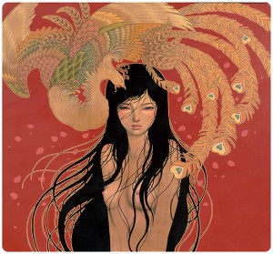 Audrey  Kawasaki -  <strong>Mizuki</strong> (2015<strong style = 'color:#635a27'></strong>)<bR /> giclee on Moab Entrada, archival cotton rag  22 x 24 inches  edition of 150  signed and numbered by the artist