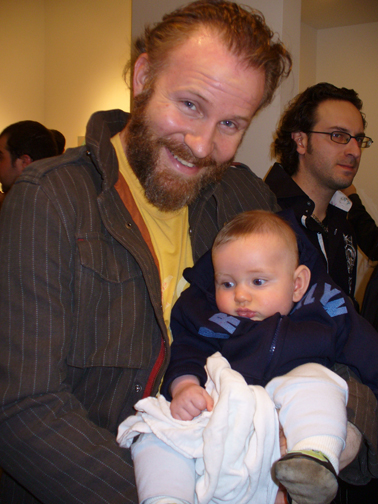 Photo of Morgan Spurlock & his  Son  Laken James Spurlock