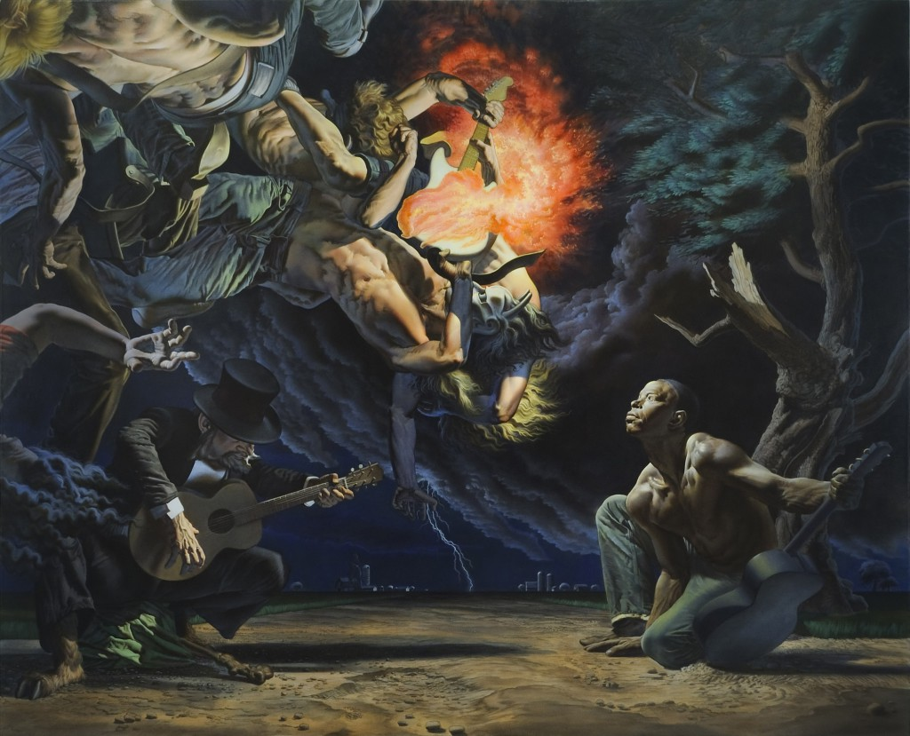 Nicola  Verlato -  <strong>Cleveland Mississippi, 1932</strong> (2010<strong style = 'color:#635a27'></strong>)<bR /> oil on linen,   78 x 96 inches  (198.12 x 243.84 cm)