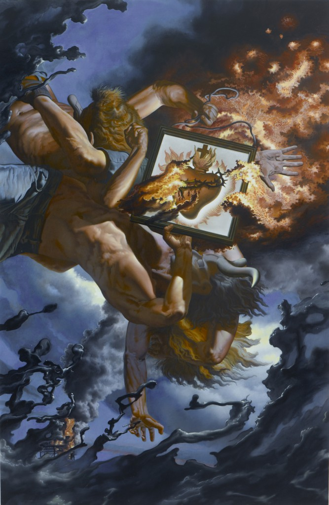 Nicola  Verlato -  <strong>Hart of Art</strong> (2012<strong style = 'color:#635a27'></strong>)<bR /> oil on canvas,   64 x 42 inches  (162.56 x 106.68 cm)