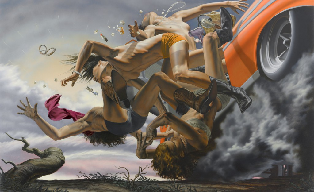 Nicola  Verlato -  <strong>Take the Road to Nowhere</strong> (2012<strong style = 'color:#635a27'></strong>)<bR /> oil on canvas,   59 x 96 inches  (149.86 x 243.84 cm)