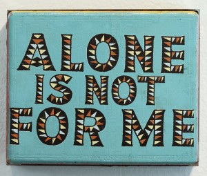 Faile    -  <strong>Not For Me</strong> (2014<strong style = 'color:#635a27'></strong>)<bR /> acrylic and silkscreen ink on wood, steel frame,   10 x 8 x 3 inches  (25.40 x 20.32 x 7.62 cm)