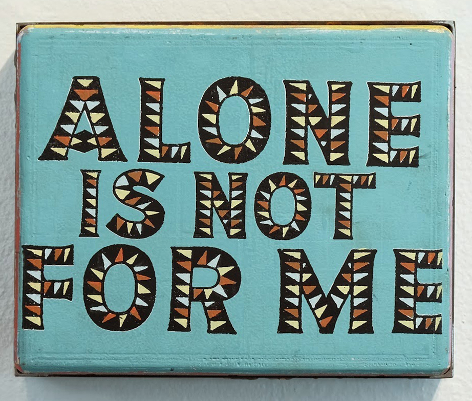 Faile  &nbsp -  <strong>Not For Me</strong> (2014<strong style = 'color:#635a27'></strong>)<bR /> acrylic and silkscreen ink on wood, steel frame,   10 x 8 x 3 inches  (25.40 x 20.32 x 7.62 cm)