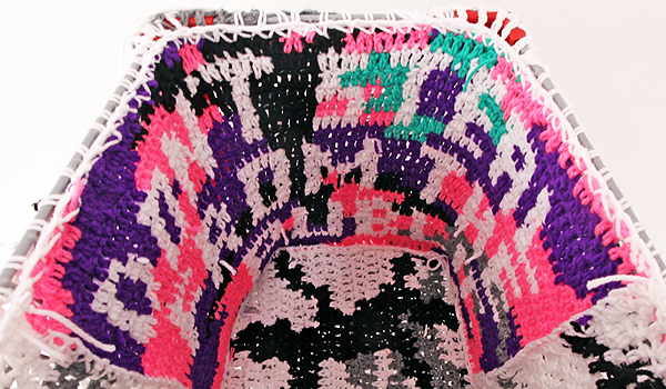 Olek  &nbsp -  <strong>Crocheted Shopping Cart (DETAIL)</strong> (<strong style = 'color:#635a27'></strong>)<bR />