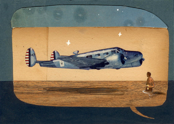The Panorama Project  &nbsp -  <strong>Oliver Jeffers,</strong> (2008<strong style = 'color:#635a27'></strong>)<bR /> Mixed media on board,   5 x 7 inches