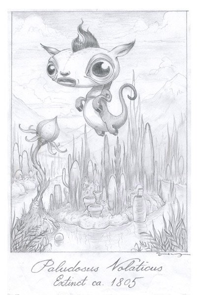 Scott  Musgrove -  <strong>Paludosus Volaticus - Field Drawing</strong> (2010<strong style = 'color:#635a27'></strong>)<bR /> graphite on paper  9 x 6 inches (22.86 x 15.24 cm)  17 x 14 inches, framed