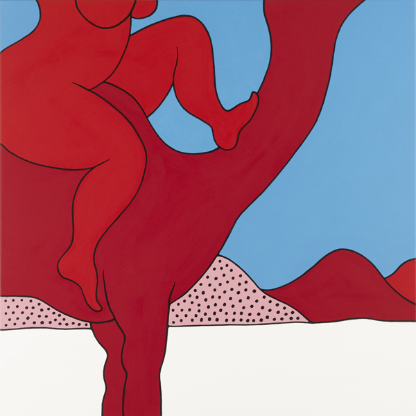 Parra  &nbsp -  <strong>Kick the Camel</strong> (2012<strong style = 'color:#635a27'></strong>)<bR /> acrylic on canvas,   39.375 x 39.375 inches  (100 x 100 cm)