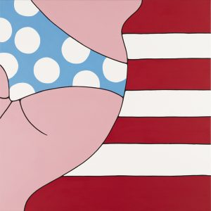 Parra    -  <strong>Spots and Stripes</strong> (2012<strong style = 'color:#635a27'></strong>)<bR /> acrylic on canvas,   39.375 x 39.375 inches  (100 x 100 cm)