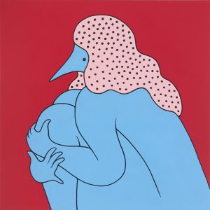 Parra    -  <strong>Tracy Had a Hard Sunday</strong> (2012<strong style = 'color:#635a27'></strong>)<bR /> acrylic on canvas,   39.375 x 39.375 inches  (100 x 100 cm)