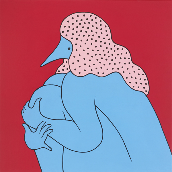 Parra  &nbsp -  <strong>Tracy Had a Hard Sunday</strong> (2012<strong style = 'color:#635a27'></strong>)<bR /> acrylic on canvas,   39.375 x 39.375 inches  (100 x 100 cm)