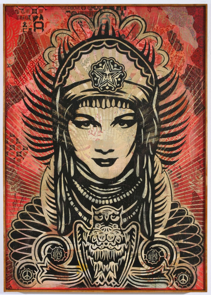 Shepard Fairey -  <strong>Peace Goddess</strong> (2007<strong style = 'color:#635a27'></strong>)<bR />
