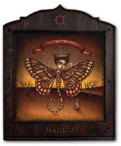Daniel Martin Diaz -  <strong>Praxis Magica</strong> (2005<strong style = 'color:#635a27'></strong>)<bR /> Oil on Wood   27&amp;quot; x 21.5&amp;quot;  -Contact Gallery for Availability-