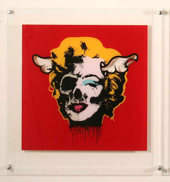 D*Face  &nbsp -  <strong>Arcylic Marilyn Red</strong> (<strong style = 'color:#635a27'></strong>)<bR /> Silkscreen on Acrylic,   29 x 29 inches
