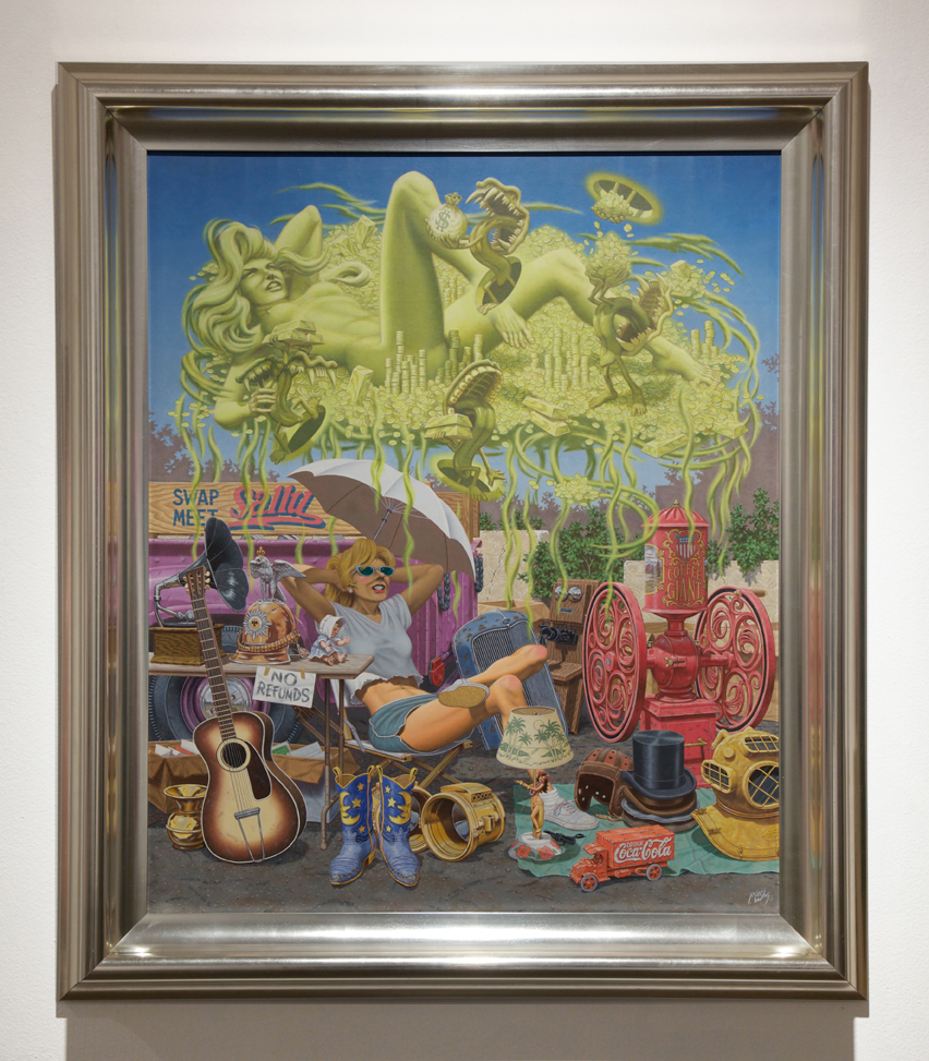 Robert  Williams -  <strong>Swap Meet Sally</strong> (2006<strong style = 'color:#635a27'></strong>)<bR /> oil on canvas,   36 x 30 inches  (91.44 x 76.2 cm),   43 3/4 x 37 3/4 inches, framed