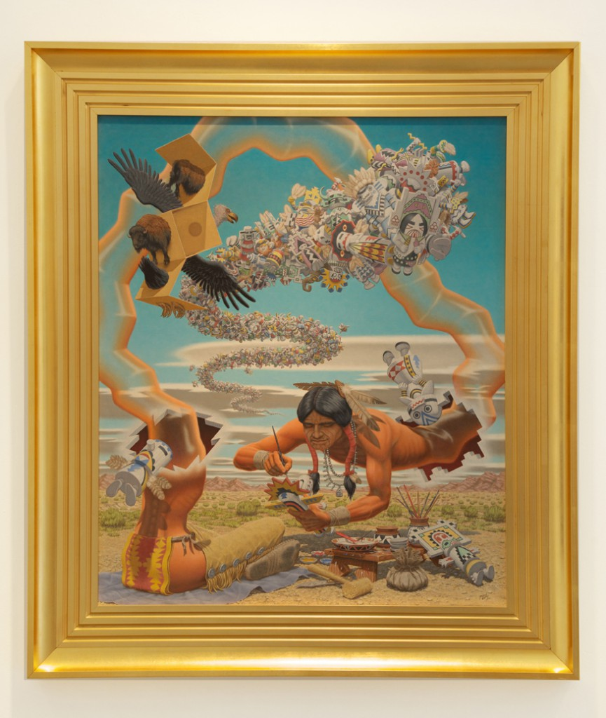 Robert  Williams -  <strong>Wooden Spirits Persist Where Termites Fear to Tread</strong> (2006<strong style = 'color:#635a27'></strong>)<bR /> oil on canvas,   36 x 30 inches  (91.44 x 76.2 cm),   45 3/8 x 39 3/8 inches, framed