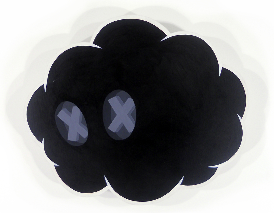 Sam  Gibbons -  <strong>Black Cloud</strong> (2011<strong style = 'color:#635a27'></strong>)<bR /> acrylic on panel,   15 x 17 inches  (38.1 x 43.18 cm)