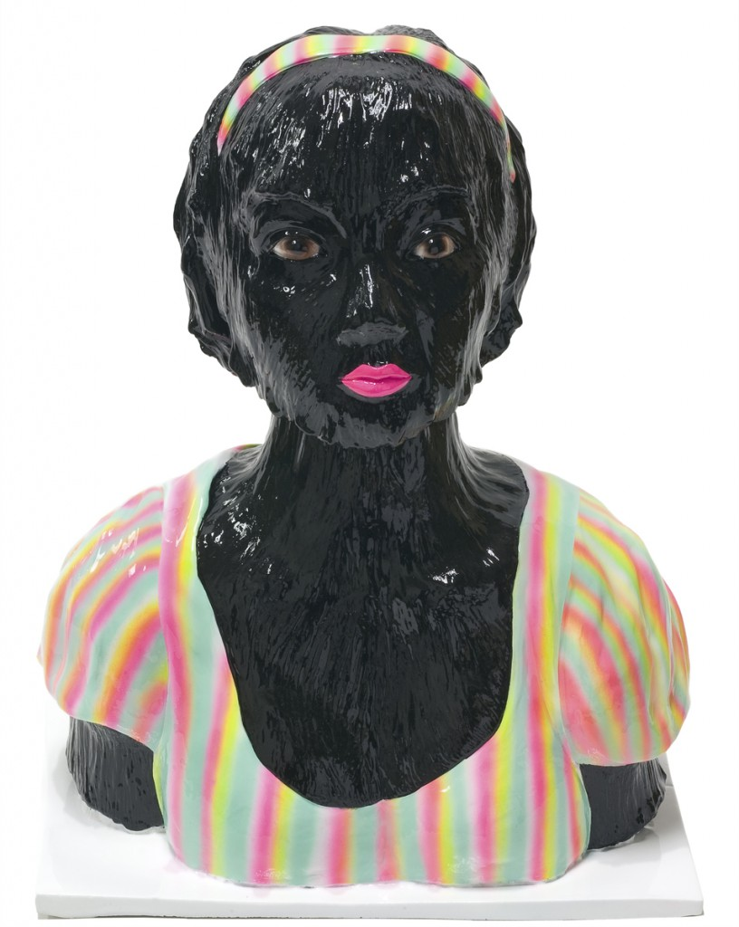 Erik Mark  Sandberg -  <strong>Girl with Summer Fever (Black) - front view</strong> (<strong style = 'color:#635a27'></strong>)<bR />