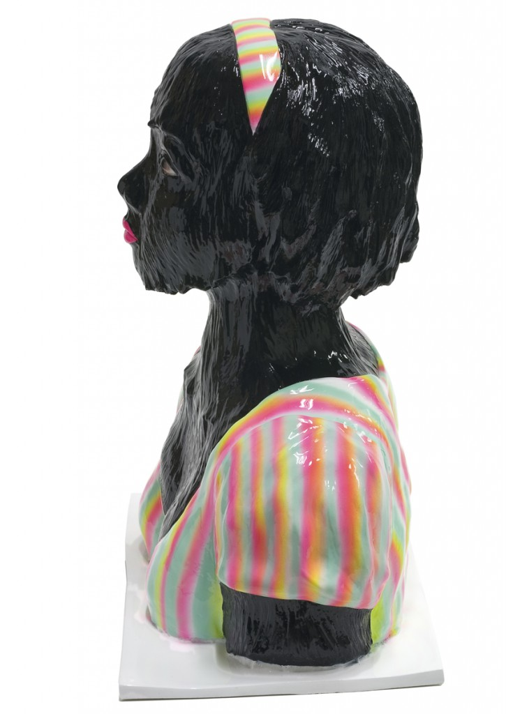 Erik Mark  Sandberg -  <strong>Girl with Summer Fever (Black) - alternate side view</strong> (<strong style = 'color:#635a27'></strong>)<bR />