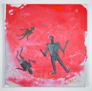 Saner   -  <strong>43 Ayotzinapa</strong> (2014<strong style = 'color:#635a27'></strong>)<bR /> acrylic on canvas,   39 x 39 inches  (99 x 99 cm)