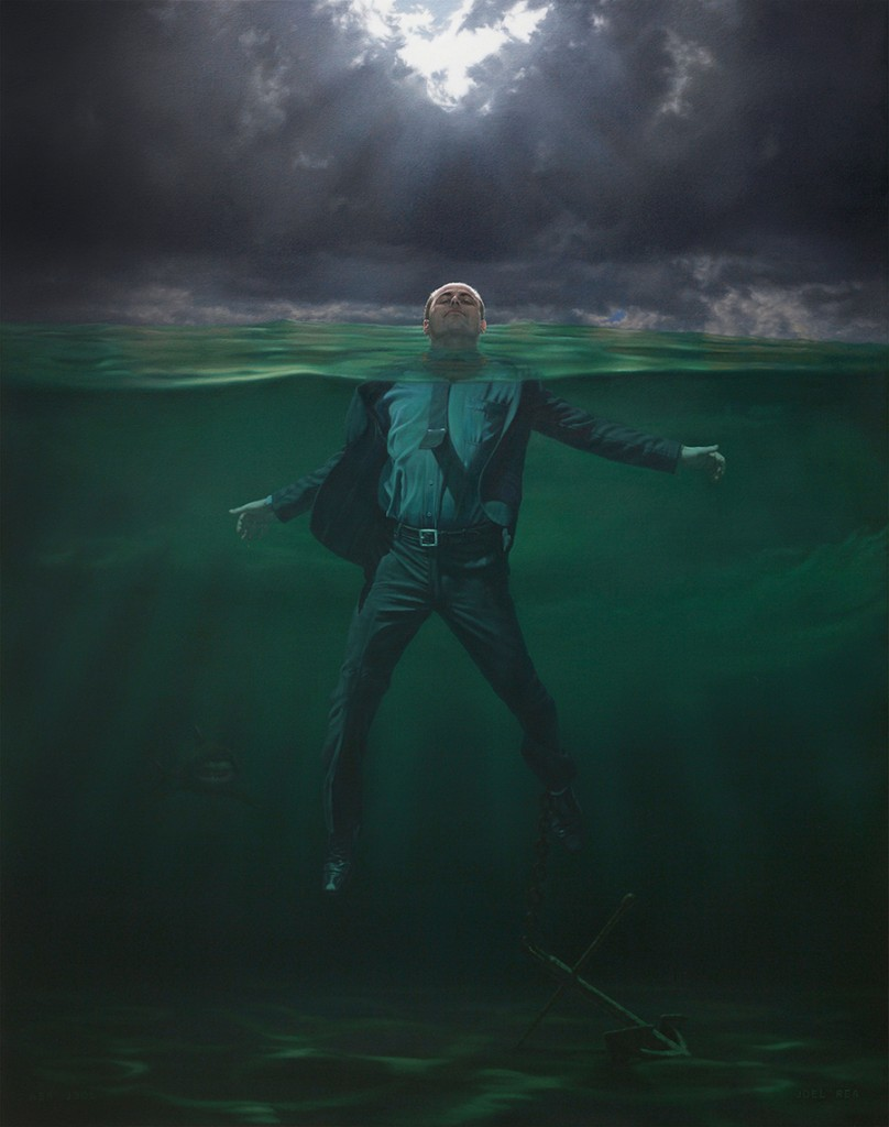 Joel Rea -  <strong>See Mee</strong> (2015<strong style = 'color:#635a27'></strong>)<bR /> oil on canvas 30 5/16 x 24 in. (77 x 61 cm)