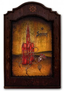 Daniel Martin Diaz -  <strong>Semivivus</strong> (2005<strong style = 'color:#635a27'></strong>)<bR /> Oil on Wood   25&amp;quot; x 16&amp;quot;  -Contact Gallery for Availability-