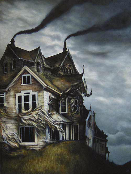 "Esao  Andrews -  <strong>Separate Lives</strong> (2007<strong style = 'color:#635a27'></strong>)<bR /> Oil on Wood,   <span style=""font-family: Helvetica;"">Image size: 32 x 24 inches,   </span>,  <p class=""MsoNormal""><span style=""font-family: Helvetica;"">Framed size: 38 1/2 x 30 1/2 inches</span><span style=""font-family: Helvetica;"">,   </span>"