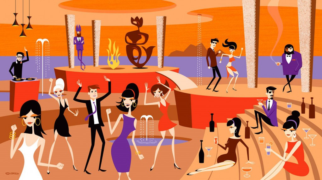 Josh  Agle (Shag) -  <strong>Dagon's Pad (DETAIL)</strong> (<strong style = 'color:#635a27'></strong>)<bR />