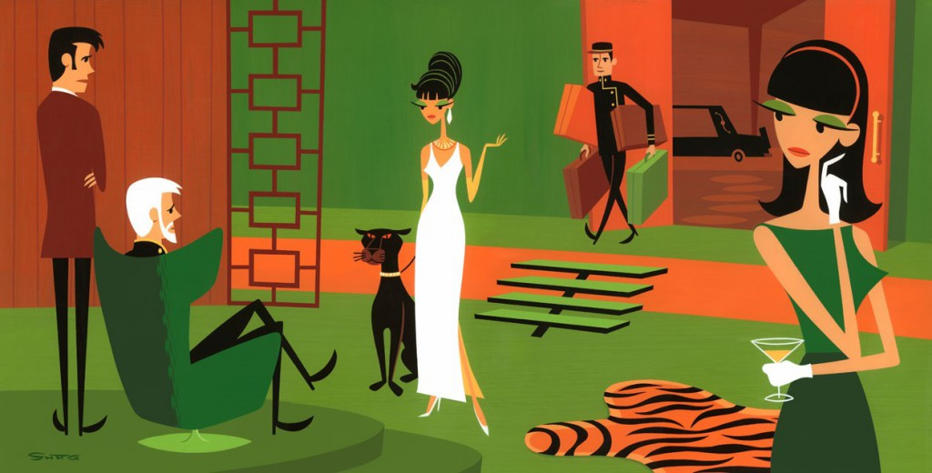 Josh  Agle (Shag) -  <strong>The Queen of Sheba (DETAIL)</strong> (<strong style = 'color:#635a27'></strong>)<bR />