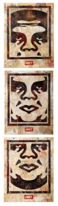 Shepard Fairey -  <strong>3 Facelcon Series (OG Set)</strong> (<strong style = 'color:#635a27'></strong>)<bR />