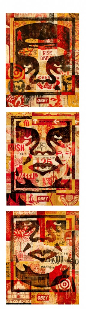 Shepard Fairey -  <strong>3 Facelcon Series (Statioin)</strong> (<strong style = 'color:#635a27'></strong>)<bR />