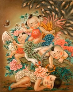 """Xiaoqing  Ding -  <strong>Stay Captive</strong> (2007<strong style = 'color:#635a27'></strong>)<bR /> <font face=""""Arial"""">Pastel on Paper</font>,   <font face=""""Arial""""><span style=""""font-family: Helvetica;"""">Image size: 40 x 32 inches,   </span></font>,  <p class=""""MsoNormal""""><font face=""""Arial""""><span style=""""font-family: Helvetica;"""">Framed size: 41 x 33 inches</span></font>,   <span style=""""font-family: Helvetica;"""">,    ,   </span>"""